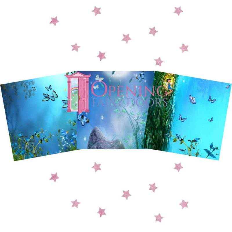 Blue Fairy Window Backgrounds