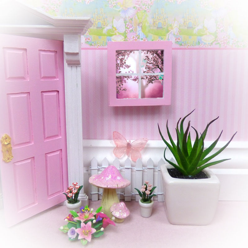 Pink Fairy Window Backgrounds