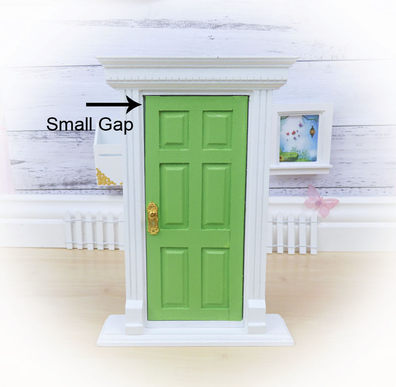Sale Green Opening Fairy Door with Stand