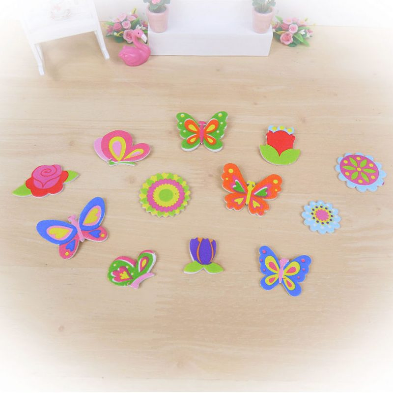 flower butterfly foam stickers